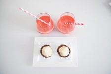 Holiday drinks and cupcakes